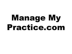 Manage My Practice